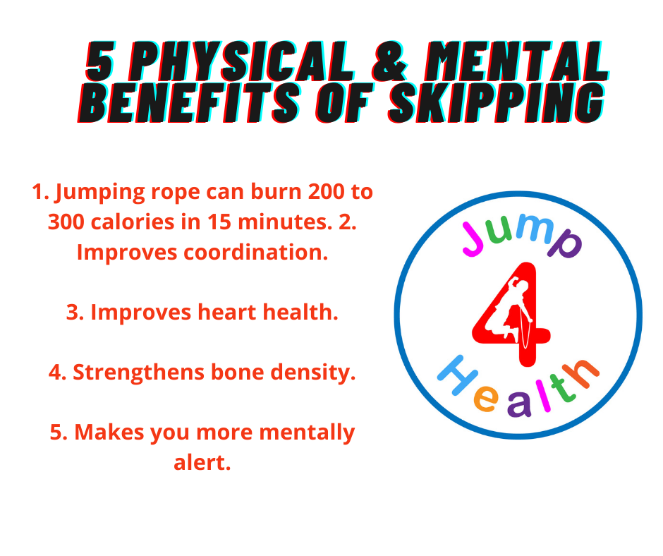 5 Physical and mental benefits of skipping