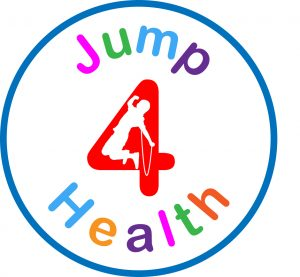 a logo that shows the jump4health graphic